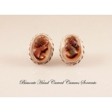 Mother of Pearl Cameo Earrings