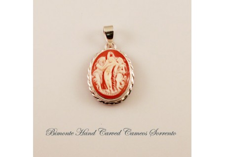 Botticelli's Three Graces Cameo Pendent