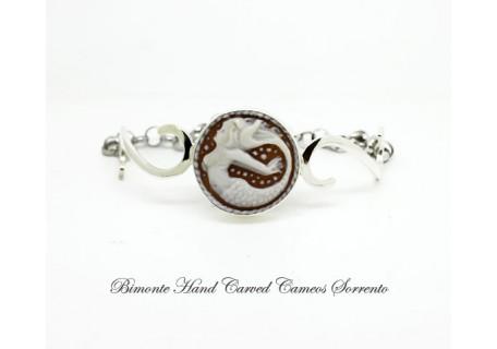 Parthenope La Sirena di Sorrento Decò Cameo Bracelet