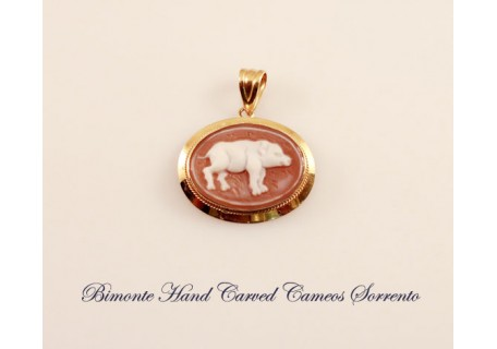 The Pig Cameo Pendent