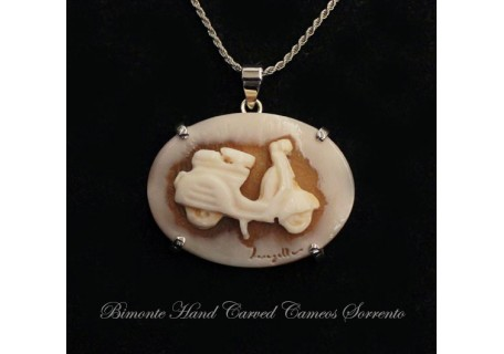 """The Italian Scooter"" Cameo Necklace"