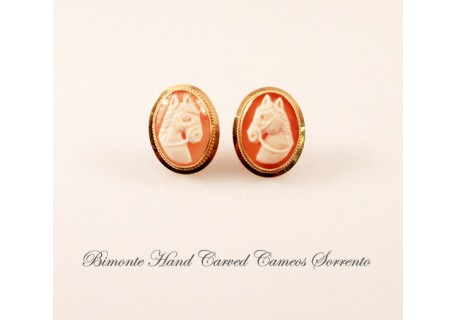 """Horses"" Cameo Earrings"