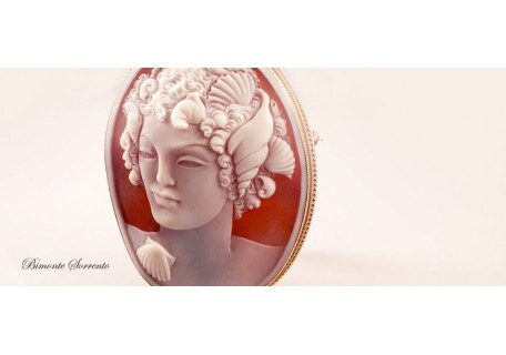 """A Mermaid"" Cameo Brooch and Pendant"