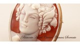 """""""A Mermaid"""" Cameo Brooch and Pendant"""