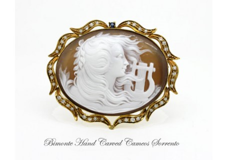 """Old Lyra"" Cameo Brooch and Pendant"