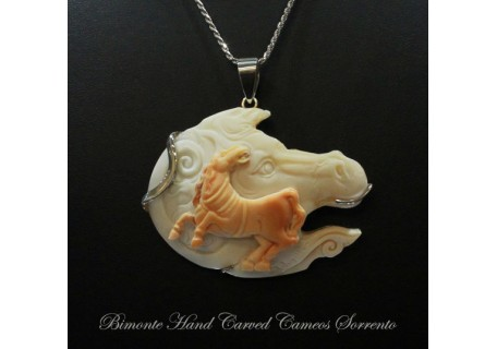 """Wild Horses"" Cameo Necklace"