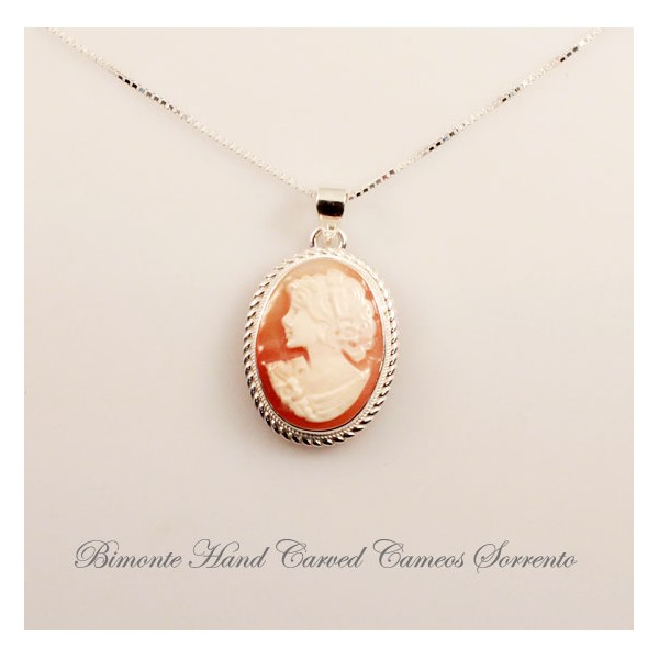 natural austin cameo silver in and pendant shalini wrapped shell wire sterling