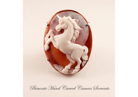 """Unicorn"" Cameo Brooch and Pendant"