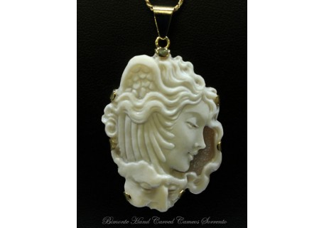 """Medusa and Neptune"" Cameo Necklace"