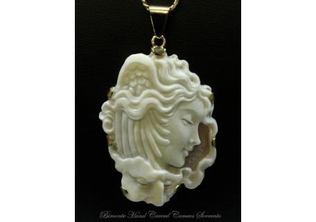 """Medusa and Neptune"" Cameo Necklace"
