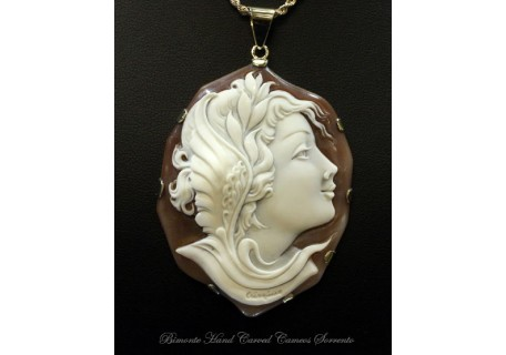 """Menrva"" Cameo Necklace"