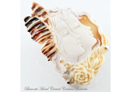 """Sisters"" Cameo Brooch and Pendant"