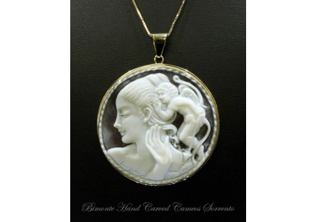 """Refusal to Love Call"" Cameo necklace"