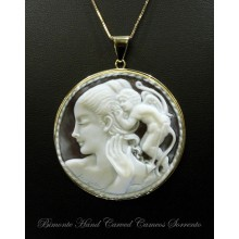 """""""Refusal to Love Call"""" Cameo necklace"""