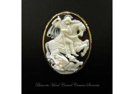 """""""Saint George and the Dragon"""" Cameo Brooch and Pendant"""