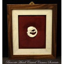"""The Mermaid of Sorrento"" Cameo in Wood Frame"