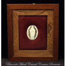 """Madonna"" Cameo in Wood Frame"