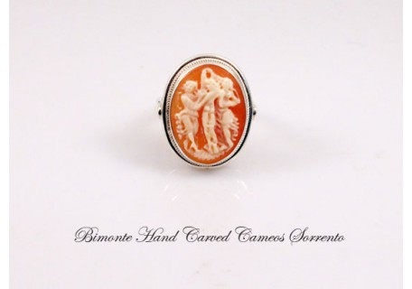 """Love  Beauty and Fidelity"" Cameo Ring"