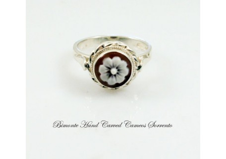 """The Flower of Joy"" Cameo Ring"