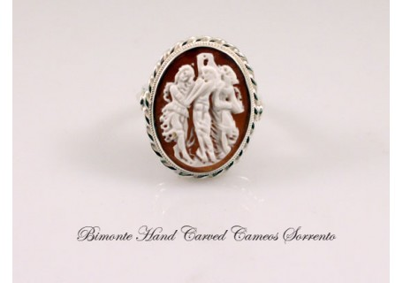 """Botticelli's Three Graces"" Cameo Ring"