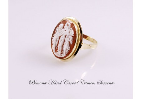"""The Botticelli's Three Graces"" Cameo Ring"