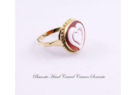 """Heart in Heart"" Cameo Ring"