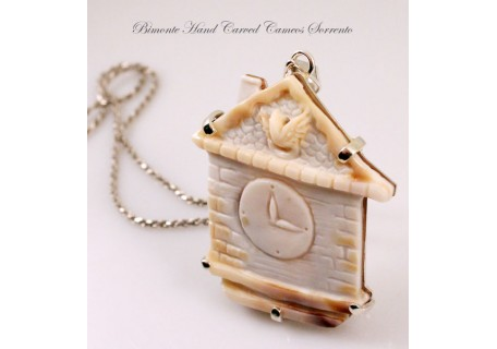 """Cuckoo Clock"" Cameo necklace"
