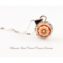 """The Flower of Joy"" Cameo Necklace"