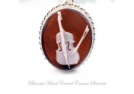 """The Cello"" Cameo Pendant"