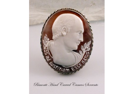 """Cicerone"" Cameo Brooch and Pendant"