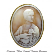 """Cecilia Gallerani, The Lady with the Ermine"" Cameo Brooch and Pendant"