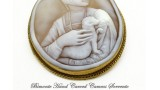 """""""Cecilia Gallerani, The Lady with the Ermine"""" Cameo Brooch and Pendant"""