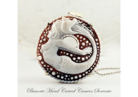 """""""The Mermaid of Sorrento"""" Cameo Necklace"""