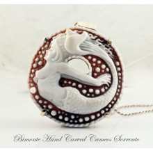 """The Mermaid of Sorrento"" Cameo Necklace"