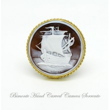 """The Boat"" Cameo Brooch and Pendant"
