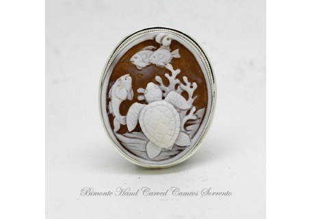 """SeaLife"" Cameo Brooch and Pendant"