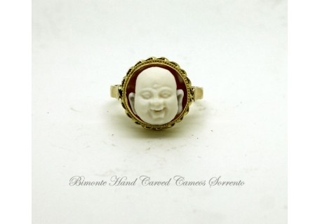 """Similing Buddha"" Cameo Ring"