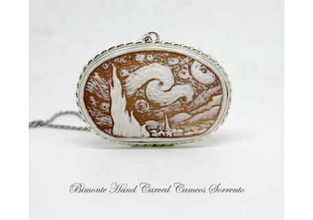 """""""Starry Starry Night"""" Cameo necklace"""