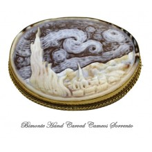 """""""Starry Night"""" ( Vincent Van Gogh) Cameo Brooch and Pendant"""