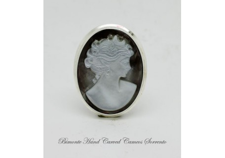 """Selene"" Cameo Brooch and Pendant"
