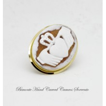 """The Irish Claddagh"" Cameo Brooch and Pendant"