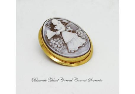 """Donnina"" Cameo Brooch and Pendant"