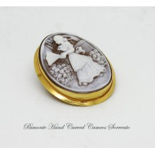 """""""Donnina"""" Cameo Brooch and Pendant"""