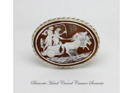 """Strength and Love"" Cameo Brooch and Pendant"