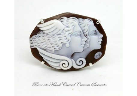 """The Beauty and the wisdom"" Cameo Brooch and Pendant"