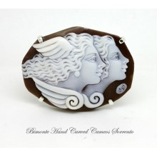 """""""The Beauty and the wisdom"""" Cameo Brooch and Pendant"""