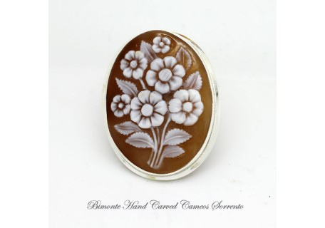 """Margherite"" Cameo Brooch and Pendant"