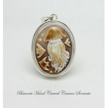 """The Jelly Fish"" Cameo Pendant"