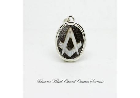 """Freemason"" Cameo Pendant"