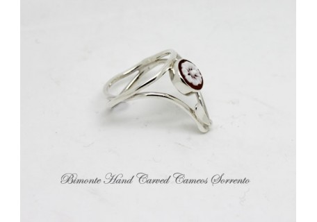 """""""Camille's"""" Flower of Joy Cameo Ring"""